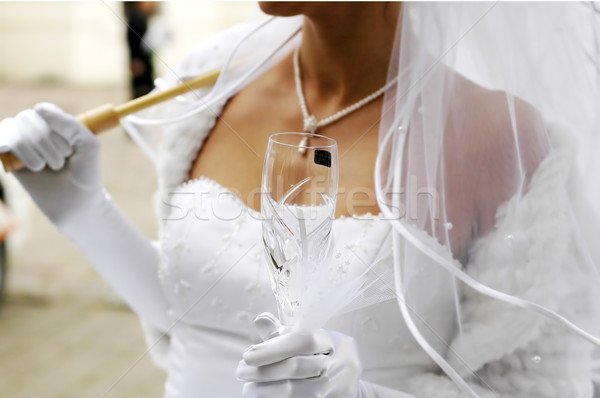 bride with champagne glass  Stock photo © taden