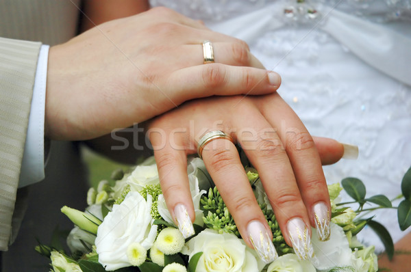 hands with wedding rings Stock photo © taden