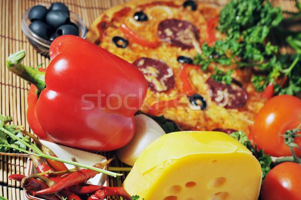 fresh baked pizza Stock photo © taden