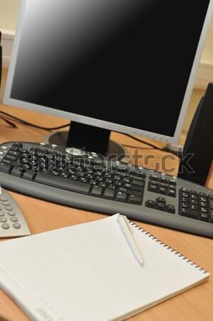 Lugar de trabajo oficina supervisar trabajo mesa papel Foto stock © taden