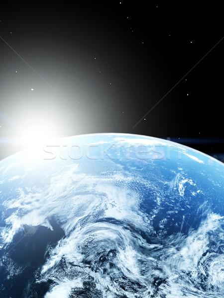 Dünya gezegeni mavi uzay dünya harita doğa Stok fotoğraf © taden