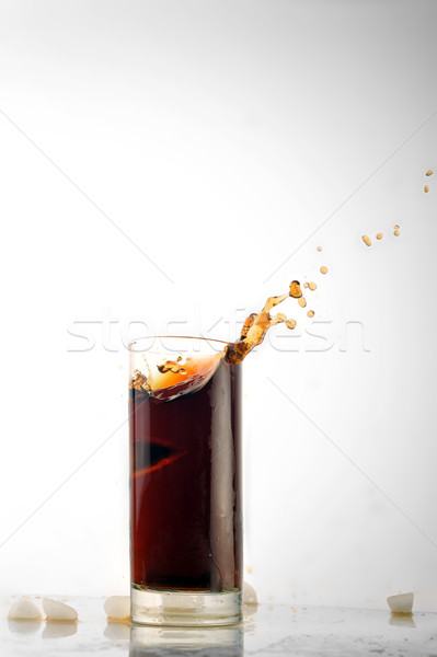 Stock photo: glass with cold drink