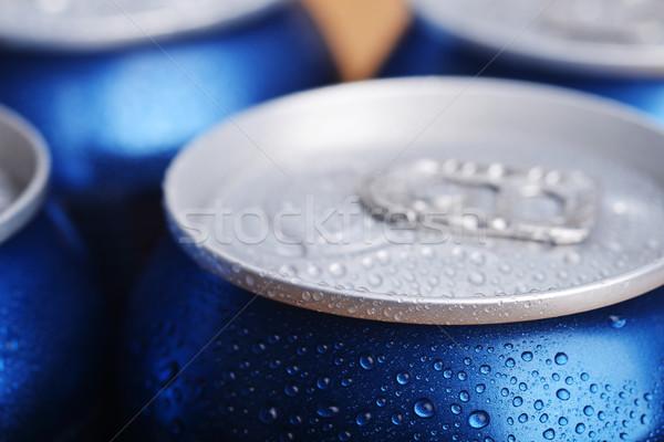 Mojado aluminio pueden beber primer plano superior Foto stock © taden