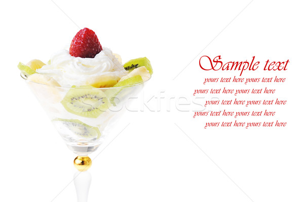 Stock photo:  fruit with whipped cream