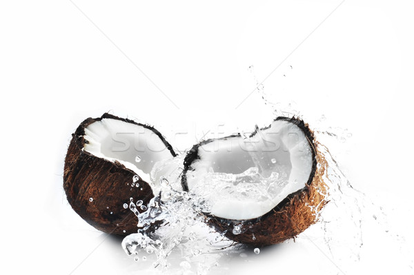 cracked coconut splashing Stock photo © taden