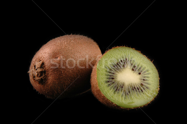 whole  and cuted kiwi close up Stock photo © taden
