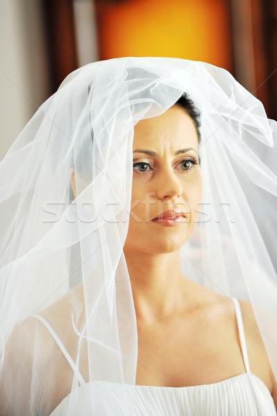 портрет красивой невеста студию женщины Сток-фото © taden