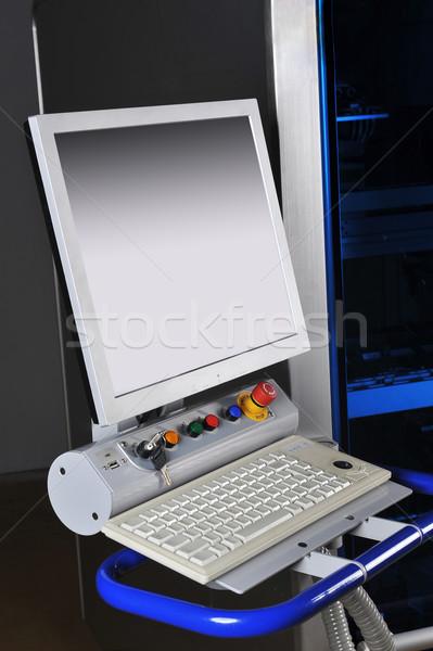 Irányítópanel modern gép magas precizitás kirakat Stock fotó © taden