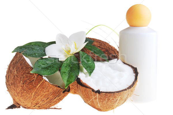 Cocco olio da massaggio corpo fiore medicina Foto d'archivio © taden