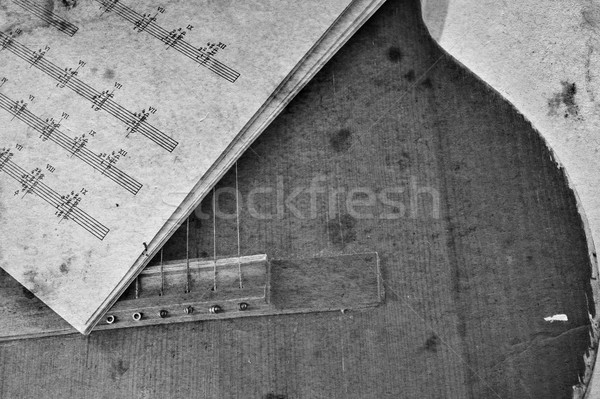 Old acoustic guitar Stock photo © taden