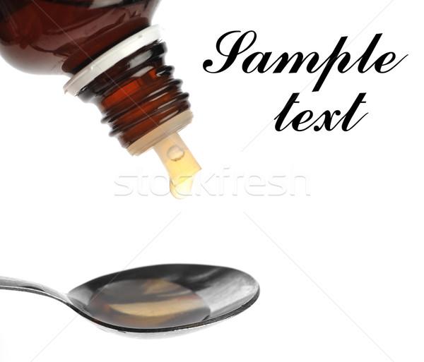spoon with medecine Stock photo © taden