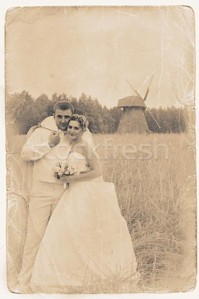 retro portrait Stock photo © taden