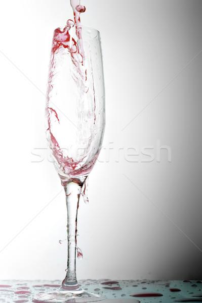 Líquido vidrio ola bebidas Foto stock © taden