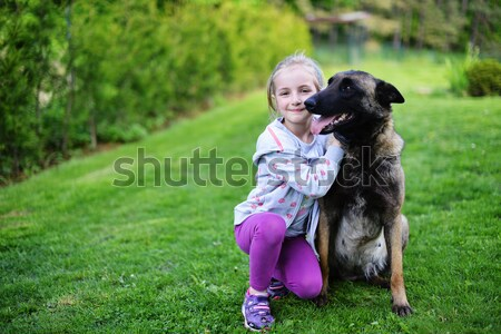 girl with dog Stock photo © taden