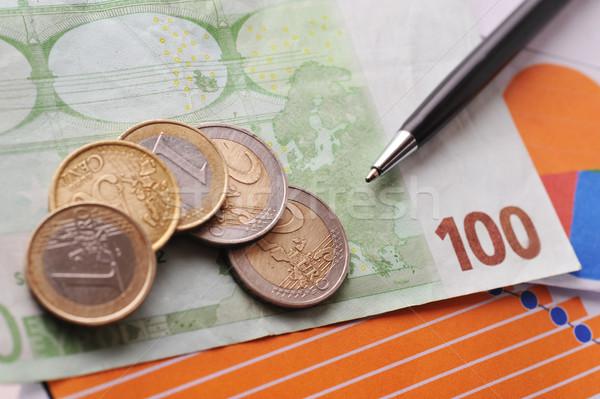 черный пер деньги кредитные карты таблице Сток-фото © taden
