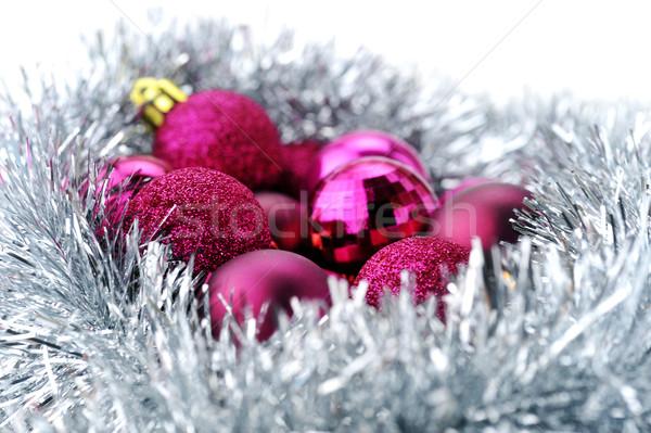 Noel çelenk yalıtılmış beyaz moda Stok fotoğraf © taden