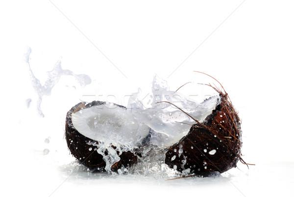 Foto d'archivio: Screpolato · cocco · grande · splash · frutta · estate