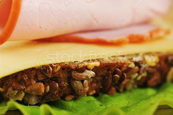 Sándwich jamón queso pan cena Foto stock © taden