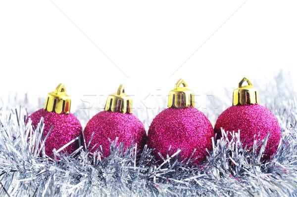 Сток-фото: Рождества · гирлянда · изолированный · белый · моде