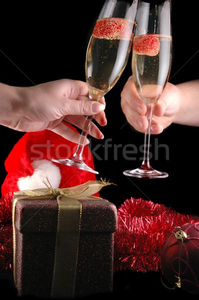 Открытки девушек и шампанское