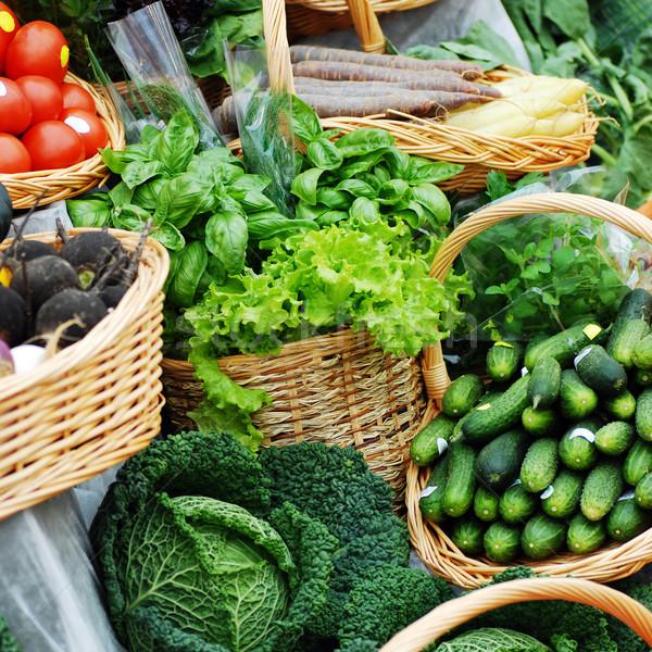 многие различный экологический овощей рынке таблице Сток-фото © taden