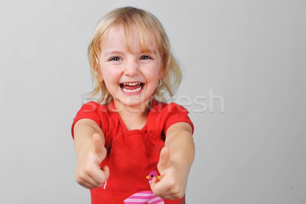 девочку портрет лице девочек красный Сток-фото © taden