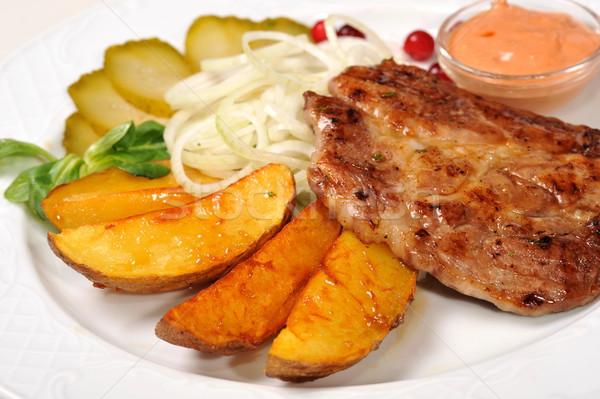 мяса картофеля красный томатный праздник стейк Сток-фото © taden