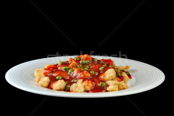 鶏 赤 ソース 深い 中国語 ストックフォト © taden