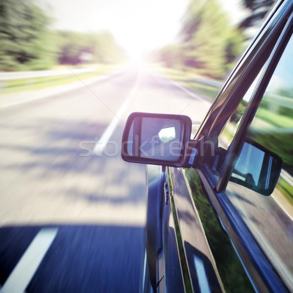 Auto weg landschap zomer groene Stockfoto © taden