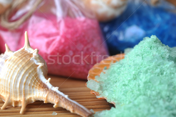 sea cockleshells and salt Stock photo © taden
