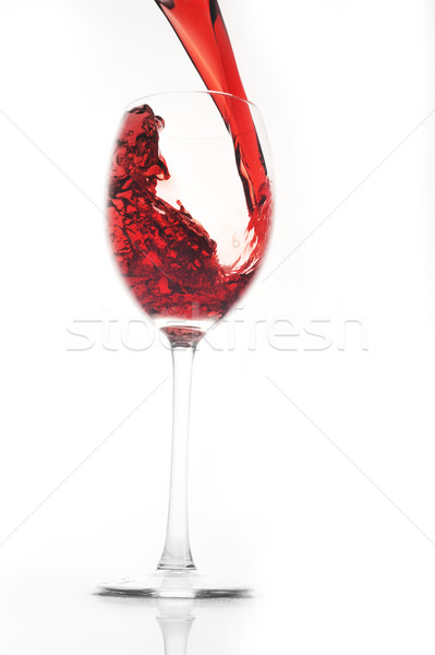 glass with red wine Stock photo © taden