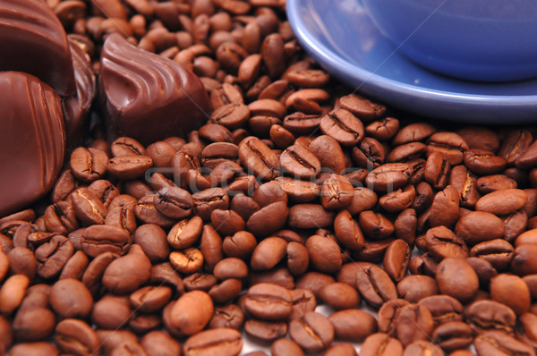 coffee beans and chocolate  Stock photo © taden