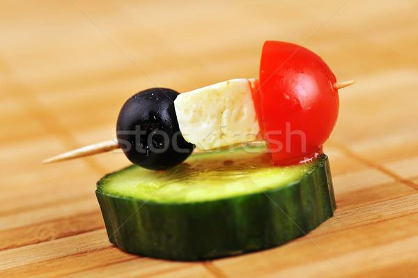 небольшой сэндвич вкусный овощей сыра природы Сток-фото © taden
