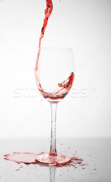 Foto d'archivio: Vino · rosso · vetro · acqua · bar