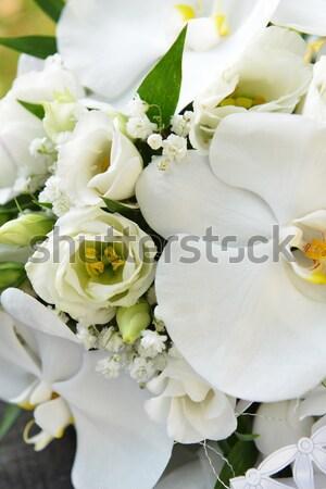 Oblubienicy bukiet pierścienie obrączki kobieta piękna Zdjęcia stock © taden