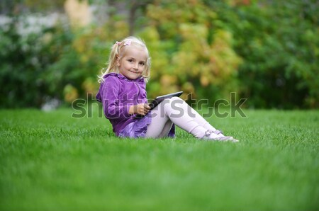 girl  with laptop Stock photo © taden