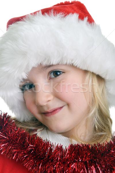 Nina CAP nina rojo sombrero Foto stock © taden