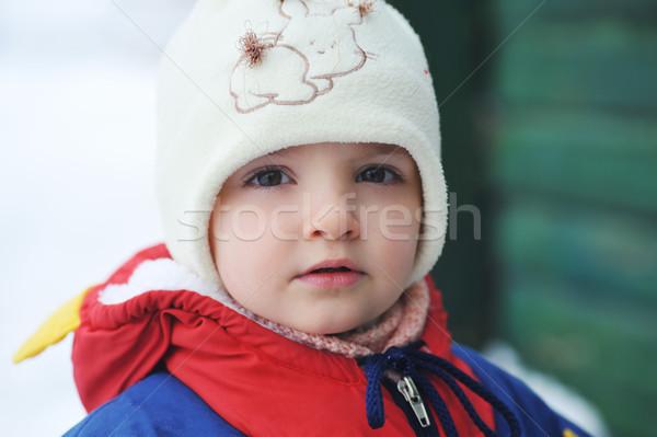 Kislány tél baba természet szépség lányok Stock fotó © taden