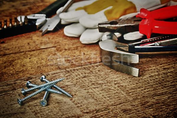 стали различный инструменты строительство фон Сток-фото © taden