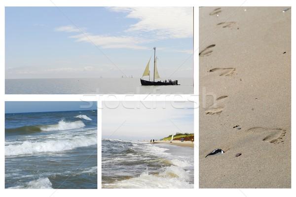 красивой морем фотографий коллаж воды облака Сток-фото © taden