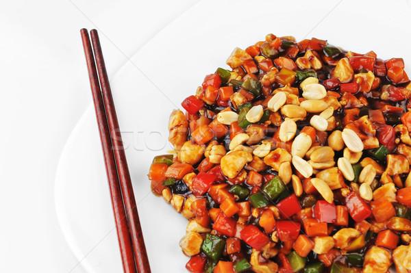 Légumes viande arachide plaque chinois Photo stock © taden