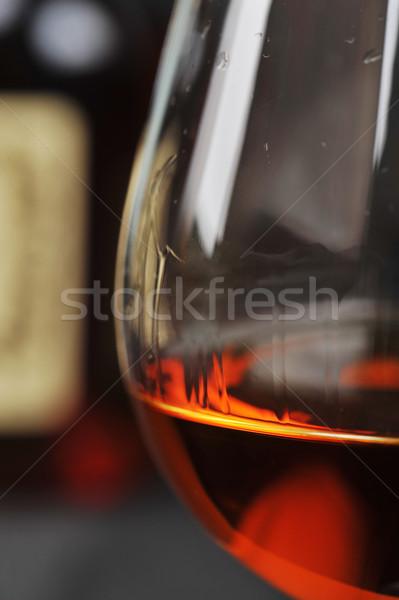 Vidro conhaque simples garrafa preto água Foto stock © taden