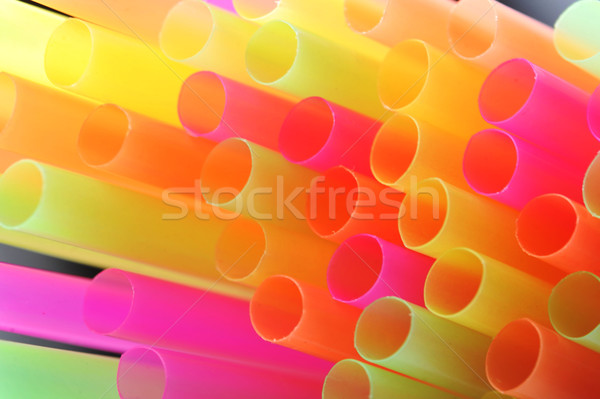 Stock photo: background made of straws