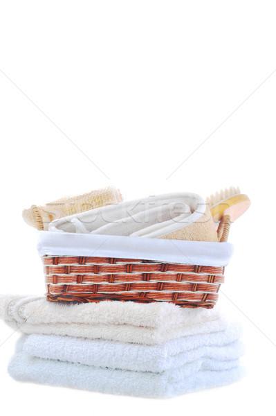 Stockfoto: Handdoeken · liggen · tabel · gezondheid