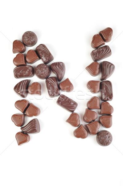 Mektup gıda dizayn renk beyaz tatlı Stok fotoğraf © taden