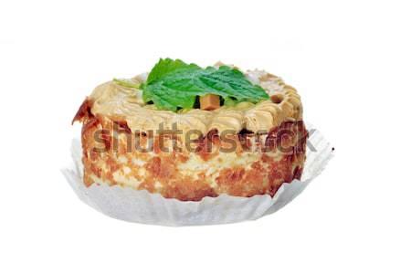 Minitorta finom fehér étel zöld cukorka Stock fotó © taden