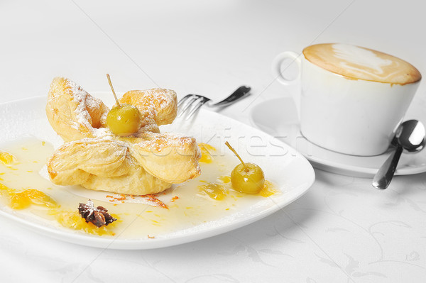 cake  with  syrup and coffee Stock photo © taden