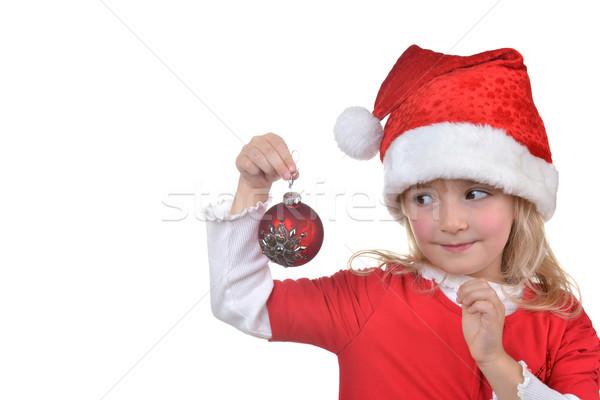 girl in santa cap Stock photo © taden