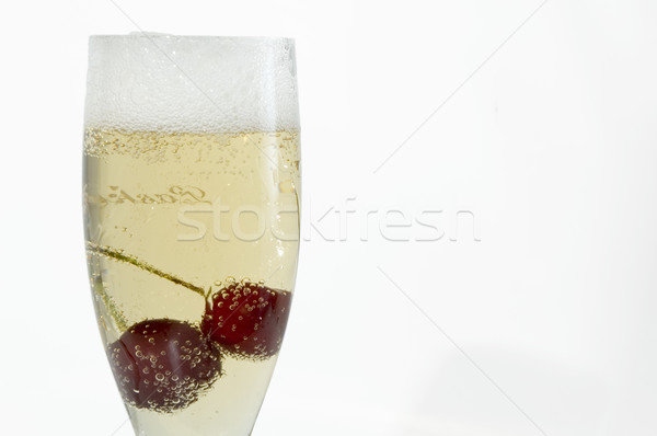 champagne with cherry Stock photo © taden