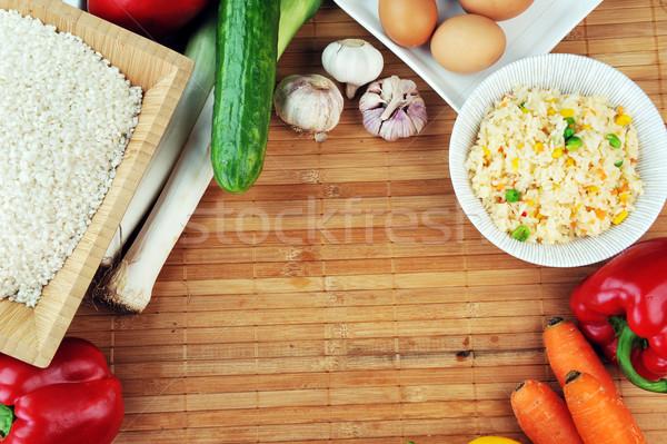 Сток-фото: риса · овощей · белый · разнообразие · приготовления · традиционный